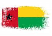Brushstroke Flag Guinea Bissau