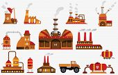 stock photo of bio-hazard  - Vector illustration of collection factory icons  - JPG
