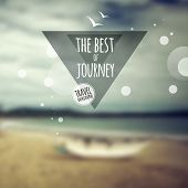 Creative graphic message for your travel design