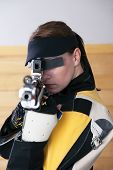 Female Athlete Doing Target Practice