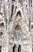 Details Of Cathedral  Sagrada Familia In Barcelona