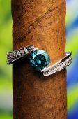 Blue brilliant ring
