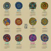 Ethnic calendar 2015 year