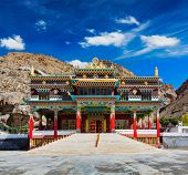 stock photo of himachal  - Buddhist monastery in Kaza - JPG