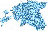 Isolated map of Estonia -Europe-