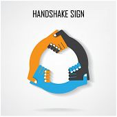 Handshake Abstract Sign