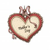 Frame with text for Mother's day.