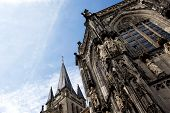 Aachen Cathedral Against The Sky
