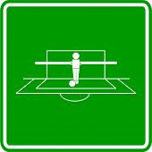 foosball goalkeeper sign