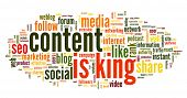 pic of king  - Content is king concept in word tag cloud on white background - JPG
