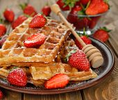 Waffles With Strawberries