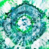 Batik - Abstract Green Diamond Pattern On Silk
