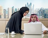 stock photo of hijabs  - Business Meeting in office  - JPG