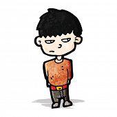 unhappy boy cartoon