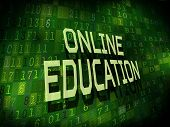 Online Education Words Isolated On Digital Background