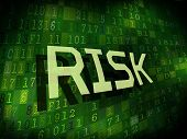Risk Word Isolated On Digital Background