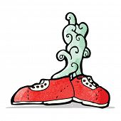foto of smelly  - smelly old trainers cartoon - JPG