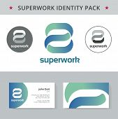 Abstract vector identity concept. Logotype template for branding and corporate design