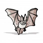 stock photo of vampire bat  - cartoon vampire bat - JPG