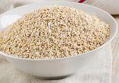 Healthy Oat Bran In  White Bowl