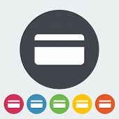 Credit card single icon.