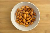 Almonds Soaking In A Bowl Of Water