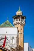 Minaret In Tunis Medina