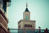 Tunisia. Minaret Of The Great Mosque (zitouna,
