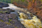Canyon River In Finland.