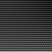 Perforated Metal Template. Translucent Grid Background. Vector Illustration