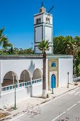 Mosque In Sidi Bou Said In Tunisia In Africa In Summer Day