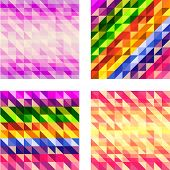 Set of Colorful Geometric textures