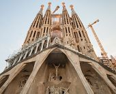 Sagrada Familia Facade, The Cathedral By Gaudi