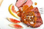 picture of ou  - beef filet mignon with green peppercorn creamy sauce ou poivre vert - JPG