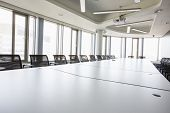 Interior of empty conference room in creative office