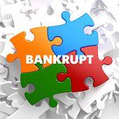 Bankrupt - Concept Multicolor Puzzle.