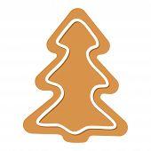 Vector Christmas Tree Gingerbread