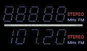 Vfd Dot Matrix Fm Radio Display Macro In Blue