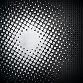 metal background with halftone pattern