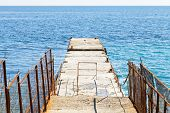 Pier - Breakwater In Yalta, Crimea