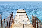Pier - Breakwater In Yalta, Crimea