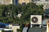Climatic machine over the roof