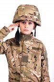 Saluting Soldier.