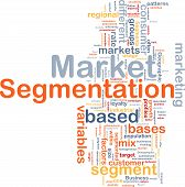 Market Segmentation Background Concept