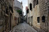 Street in the old town Hvar, Croatia