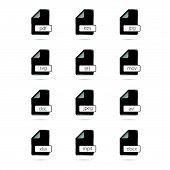 File Type Icon Black Vector Illustration