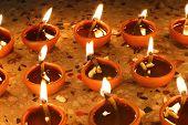 Beautiful Diwali Oil Lamps
