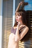 Fashion Art Photo Of Young Sensual Lady At The Window