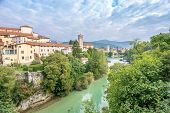 View At The Cividale Del Friuli With River