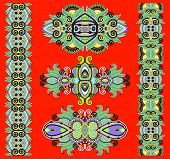 stock photo of adornment  - ornamental floral decorative ethnic adornment - JPG